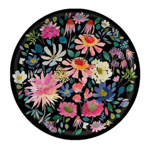 Zinnia Round tray, Dia38cm, black