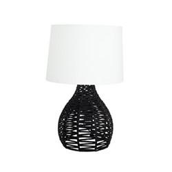 Ori & Vara Large lamp base and shade, 30 x 35cm, black/white