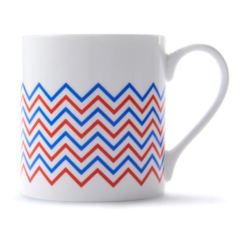 Wave Mug, H9 x D8.5cm, Red/Blue