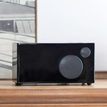 Ambiente Smart speaker, L24 x W12 x H12.5cm, piano black
