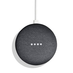 Google Home Mini smart speaker, charcoal