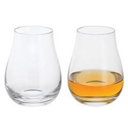 Whisky Pair of snifter glasses, H10cm - 23cl, clear