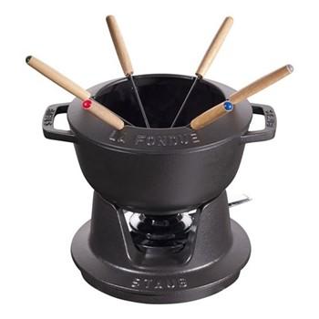 Mini fondue set, 10cm, black