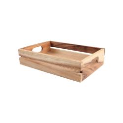 """Baroque - """"Plain"""" Medium crate, 30 x 21 x 7cm, Rustic Acacia"""