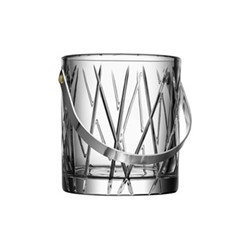 City Ice bucket, H15.5 x W13.8cm, glass and stainless steel