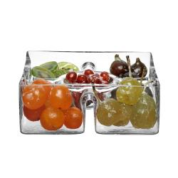 Serve Square platter, 23cm, clear