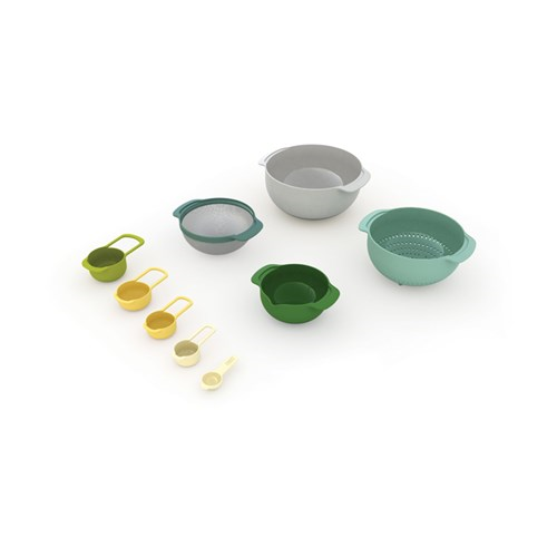 Nest Plus 9 piece stacking bowl and measuring set, Opal
