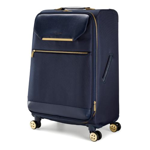 Albany Medium 4 wheel spinner suitcase, L68 x W44 x D31cm, Navy