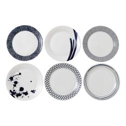 Pacific Set of 6 dinner plates, 28cm
