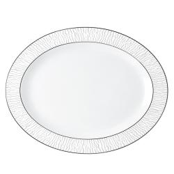 Dune Oval platter, 33cm, platinum