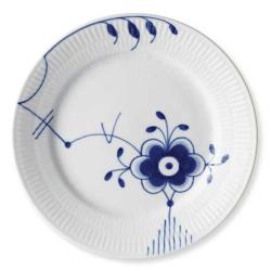 Blue Fluted Mega Dessert plate, 19cm