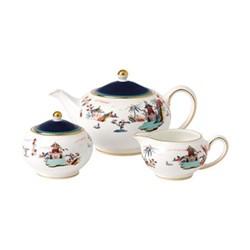 Wonderlust Teapot, sugar and creamer set