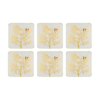 Chelsea Collection Set of 6 coasters, 10.5 x 10.5cm, light grey