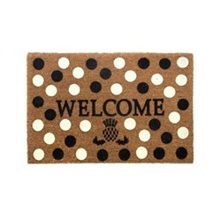 Dot Welcome mat, W68.58 x L114.3cm, black & white