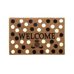 Dot Welcome mat, W68.58 x L114.3cm, black & white