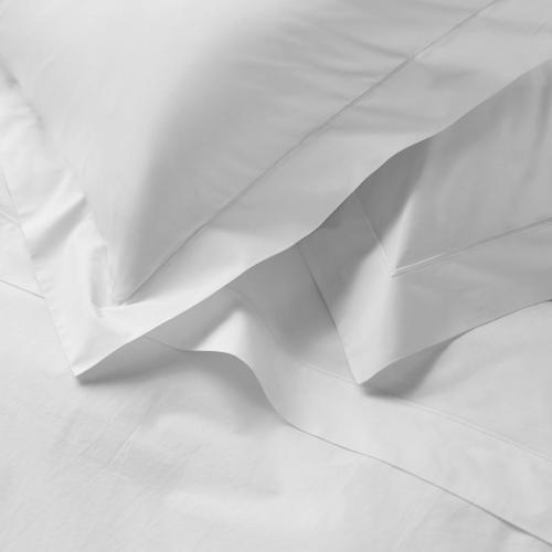 Savoy - 400 Thread Count Egyptian Cotton Oxford pillowcase, 50 x 75cm, White