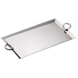 Vertigo Mail tray, 20 x 16cm, Christofle Silver