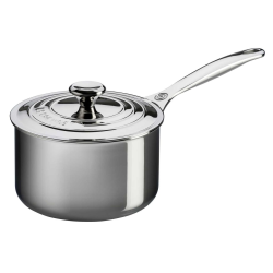 Signature Uncoated Saucepan with lid, 16cm, Stainless Steel