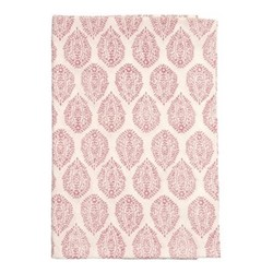 Leaf Round tablecloth, 180cm, pink cotton