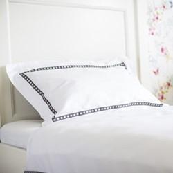 Little Stars - 400 Thread Count Single standard pillowcase, W50 x L75cm, grey on white sateen cotton