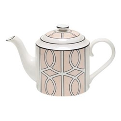 Loop Teapot, H13cm, blush/white