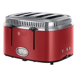 Retro 4SL - 21690 Toaster, 4 slice, red