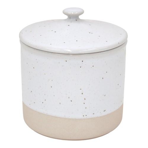Fattoria Small canister, D12 x H13.5cm, White