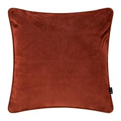 Velvet cushion, W45 x L45cm, Burnt Sienna