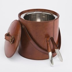 Ice bucket, H22 x D22cm, conker brown