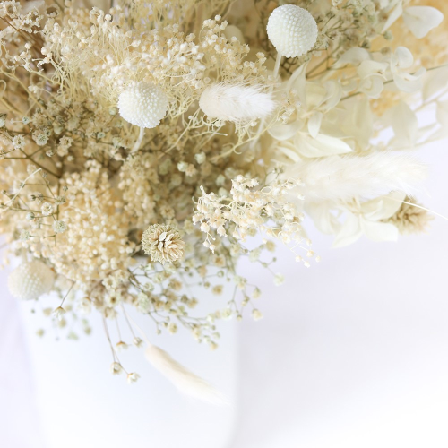 Natural Whites Large hand-tied bouquet, H42-48cm, Beige/Natural
