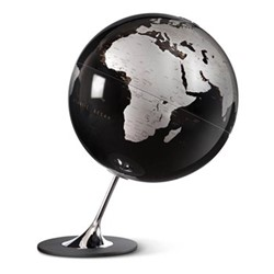Anglo Globe, L33 x W25cm, black