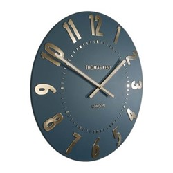 Mulberry Large wall clock, 51cm, midnight blue resin
