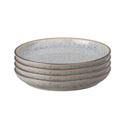 Studio Grey Set of 4 coupe side plates, 17cm, granite