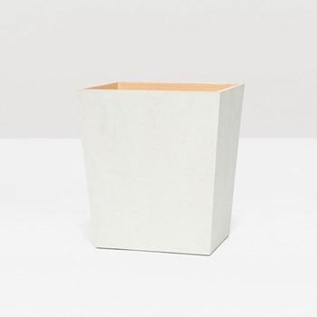 Manchester Wastebasket, H28 x W20cm, snow faux shagreen