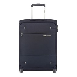 Base Boost Upright suitcase, 55 x 40 x 20cm, navy blue stripes