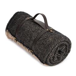 Polo Picnic rug, 145 x 183cm, Vintage Herringbone With Brown Back