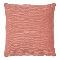 Diamond Cushion, L45 x W45cm, coral