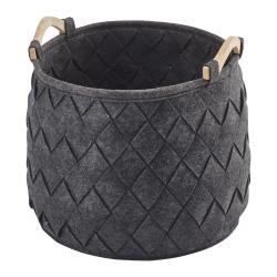Amy Medium storage basket, 35 x 35cm - 33L, Dark