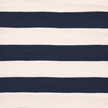 Catamaran Stripe Polypropylene indoor/outdoor rug, W91 x L152cm, navy