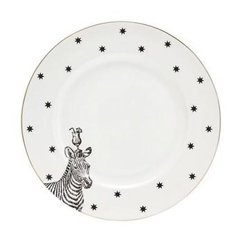 Zebra Set of 6 side plates, 16cm