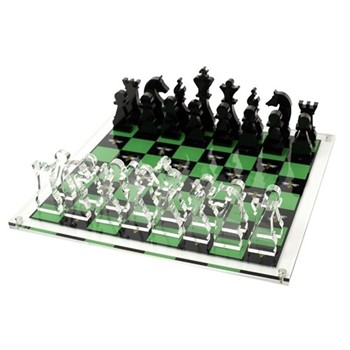 Bee Chess board, W35.6 x D35.6 x H2cm, green/black