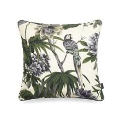 Paradisa Medium cotton linen cushion, 45 x 45cm, white