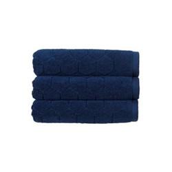 Honeycomb Pair of bath towels, 76 x 137cm, navy