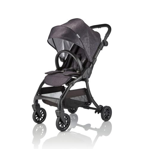 J-cub Stroller, Graphite black, H105 x W50 x L69cm, Black