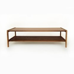 Agnes by Kay + Stemmer Coffee table, W120 x D60 x H35cm, walnut