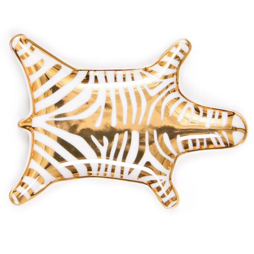 Zebra Dish, W15 x D10cm, Metallic