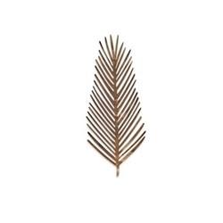 Kiko - Feather Foliage artwork, 31 x 12cm, matt brass
