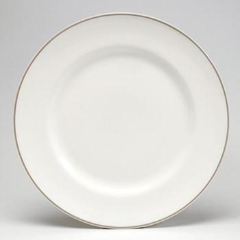 Dinner plate, 26cm, truffle/white