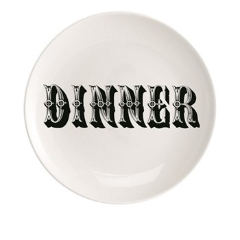 Dinner Plate, Dia20cm, black/white
