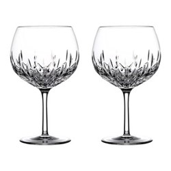 Gin Journey - Lismore Pair of balloon glasses, 55cl, clear